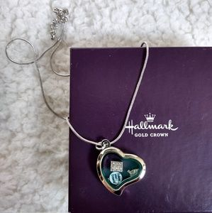 Hallmark Floating Heart Charm 19in. Necklace